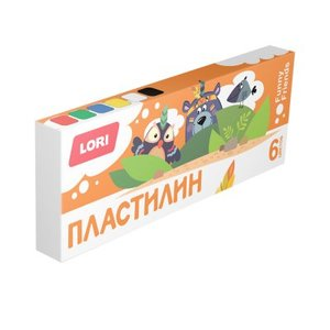 Пластилин FUNNY FRIENDS, 6 цветов, по 15 гр., без европодвеса, арт.Плф-001 фото