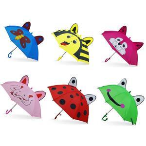 Зонт с ушками 45см, ткань, в ассорт., со свистком в пак. в кор.120шт, арт.UME-45AMS3 фото