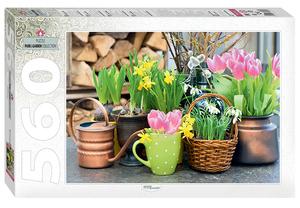 """Пазл 560 """"Весенние цветы"""" арт.78097 фото"""