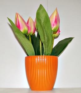 Цветы искусственные из пластмассы (кор.72) арт.86245 фото