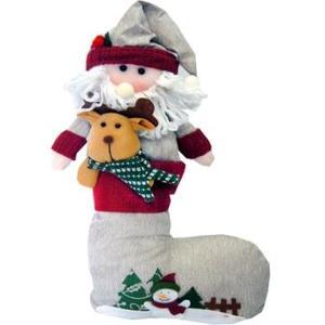 Дед Мороз в башмаке 43*28см материал: пластик, текстиль арт.0208 фото