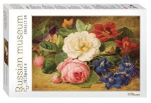 """Мозаика """"puzzle"""" 1000 """"Букет цветов с улиткой"""" (Русские музеи new), арт.79211 фото"""