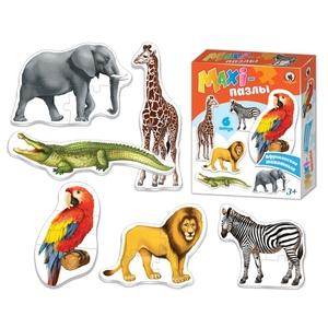 """MAXI-пазлы """"Африканские животные"""" в кор., арт.02540 фото"""