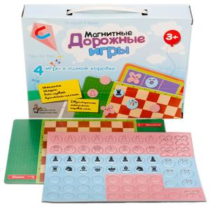Игры магнитные дорожные (шахматы, шашки, кто первый, крестики-нолики), арт.01943 фото