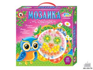 Мозаика Ромашка Совенок 156 фишек, 20мм Милк, арт.03024 фото