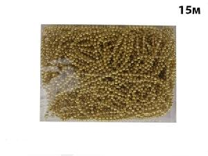"""Ел. укр. """"CLASSIC GOLD"""" бусы шар 4 мм., 15 м., золото, арт.66931 фото"""