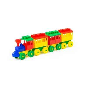 Конструктор-Паровоз с тремя вагонами арт.2051 (кор/23) фото