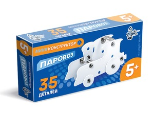 Конструктор из пластика и металла мини Паровоз арт.01590 фото