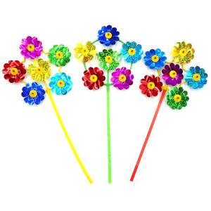 Вертушка Цветы диам. 17см, голограм., цвет в ассорт., арт.PW17-2 фото