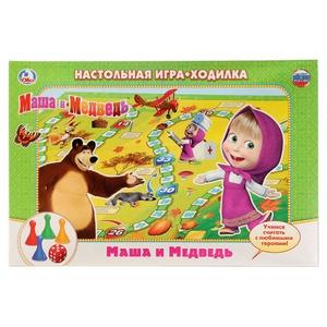 """Настольная игра-ходилка """"Маша и медведь"""", арт.10506 фото"""