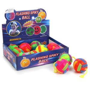 Мяч пвх прыгающий 7,5см, со светом, пищалка,, цвет в ассорт, арт.M02476 фото