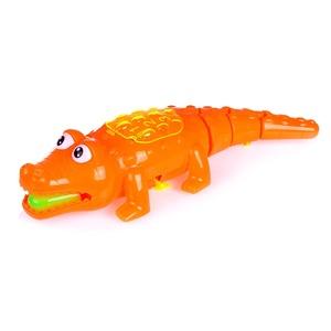 Крокодил заводной на веревке свет. в ассорт., арт.47264 фото