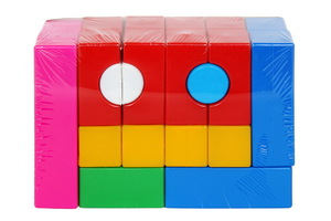 """Набор кубиков """"Строитель"""" 1/14, арт.90025 фото"""