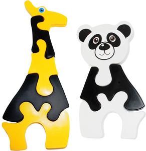 """Набор пазлов """"Жираф и панда"""" 1/15, арт.90072 фото"""
