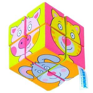 Мякиши-кубики Собери картинку.Зверята, 8шт. арт.336мяк фото