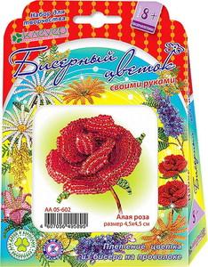 Набор для изготовления цветка из бисера «Алая роза» арт. АА 05-602 фото