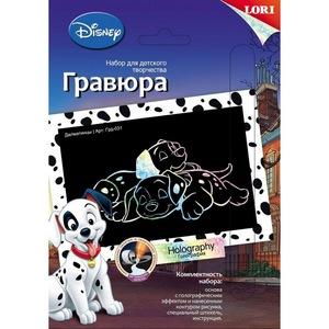 """Гравюра Disney малая с эффектом голографик """"Далматинцы"""", арт.Грд-031 фото"""