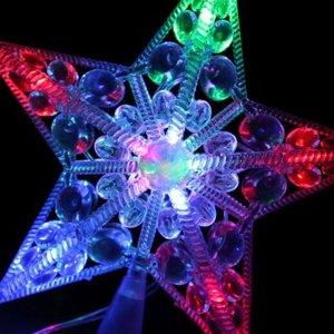 Светодиодная звезда КОСМОС 10 светодиодов, мультиколор,  16,5 см, арт.KOC_STAR10LED_RGB фото