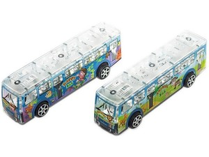 Автобус инерционный AnimalBus (свет) в пак., арт.38221 фото