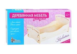 Мебель деревянная для куклы. Кроватка (малая), арт.01902 фото