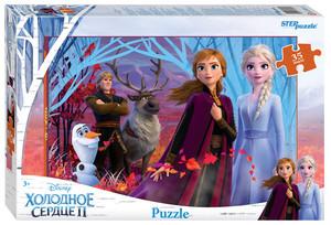 "Мозаика ""puzzle"" 35 MAXI ""Холодное сердце - 2"" (Disney), арт.91247 фото"