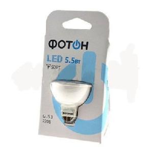 Лампа светодиодная ФОТОН LED MP16 220V 5,5W GU5.5 3000K арт.22060 фото