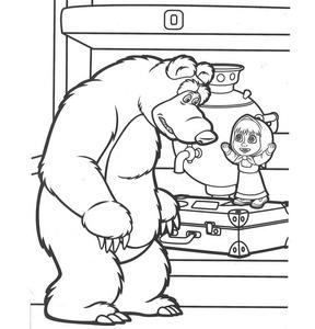 Раскраска Маша и Медведь А4, арт.00163 фото