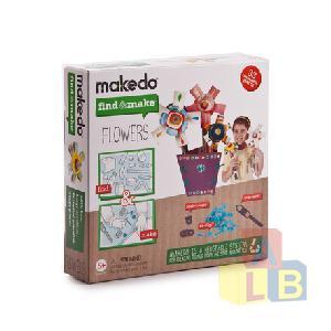 Конструктор MAKEDO FM01-001 Подумай и сделай цветок, 33 дет. фото
