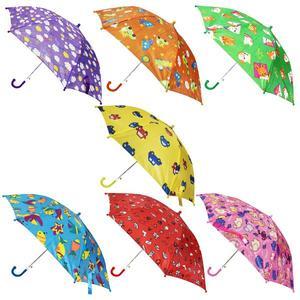 Зонт цветной 45см, ткань, в ассорт. в пак. в кор.120шт, арт.UM-45MIX3 фото