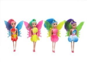 """Кукла 7"""" с крыльями и цветными волосами литая в ассортименте в пак, арт.40633 фото"""