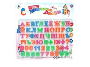 Азбука и цифры магнитные на карт.арт.42365 фото