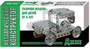 Металлический конструктор Джип арт.01554 фото