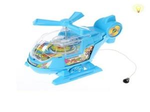 Вертолет заводной на веревке (свет)с прозрачной кабиной в пак., арт.43288 фото