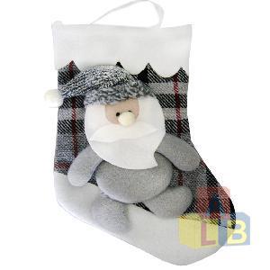 Носок рождественский декор. (кор.480) арт.0204 фото