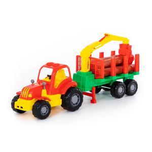 """""""Крепыш"""", трактор с полуприцепом-лесовозом арт. 44815 (кор/6) фото"""