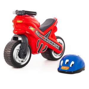 "Каталка-мотоцикл  ""МХ"" со шлемом арт.46765 (кор.1) фото"