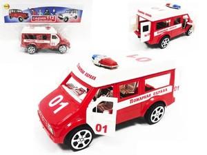 Машина инерц. Пожарная охрана микроавтобус, арт.46901 фото