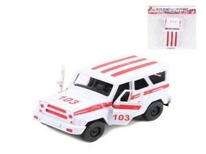 Машина инерционная  Джип-Скорая Помощь Уазик в пак, арт.47424 фото