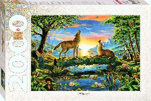 """Пазл 2000 """"Волки"""" арт.84029 фото"""