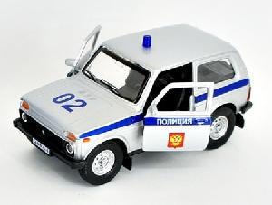 """маш """"LADA 4x4"""" полиция 1:36 арт.37026 фото"""