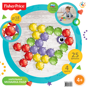 Мозаика GT9050 напольная, 25эл., Fisher-Price, арт.1136692 фото