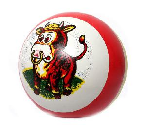 Мяч 100мм окраш.(1-2 цв.) рисунок арт. с-85П (1/50) фото