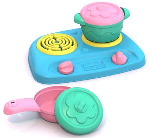 Посуда ШКОДА (плита+кастрюля+сковорода+2 крыш.), арт.ШКД02 фото