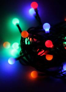 Светодиодная гирлянда КОСМОС 30 светодиодов (4,4м, 8 режимов), арт.KOC_GIR30LEDBALL_RGB фото