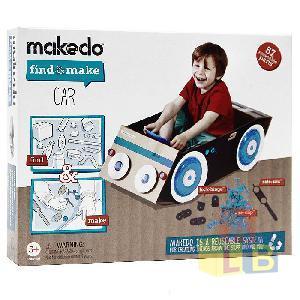 Конструктор MAKEDO FM01-004 Подумай и сделай Автомобиль, 57 дет. фото