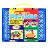 Мозаика . Мои первые картинки. d 12/100 4цв, поле 160*210 (чемоданчик) арт.8064 ЕG фото
