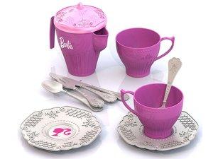 Набор чайной посудки БАРБИ (12 предметов в сетке) арт.638 фото