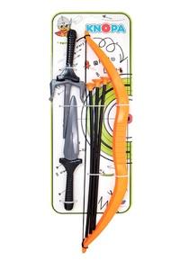 """Набор оружия """"Ниндзя"""" кинжал, саи, лук, 3 стрелы КНОПА 1/17, арт.87045 фото"""