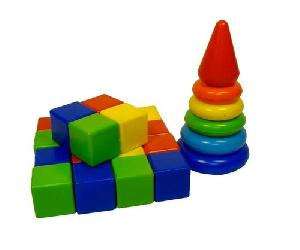 """Набор развивающий """"Радуга"""" пирамида+кубики (в рюкзаке, 31 дет.), арт.5014 фото"""
