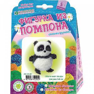 """Набор для изготовления брелока """"Маленькая панда"""" (пряжа+бисер) арт. АА 09-201 фото"""